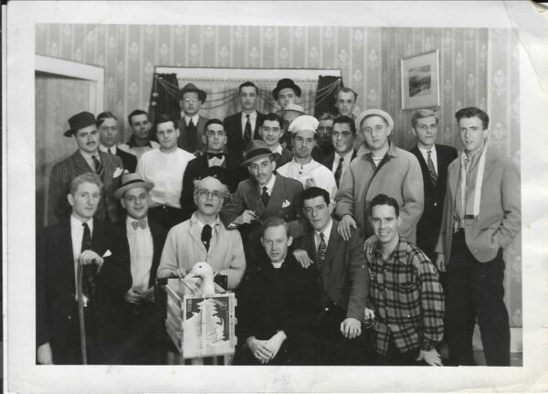 #2077P Vintage Photo Group of Handsome Young Men Wearing Costumes Smiling