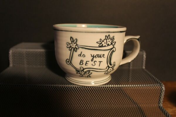 MOLLY HATCH ANTHROPOLOGY MENAGERIE DO YOUR BEST COFFEE MUG $8.25