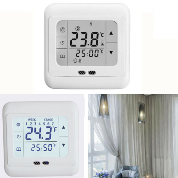 LCD Display Thermostat Thermoregulator Underfloor Heating Room Heat Thermostat $18.49