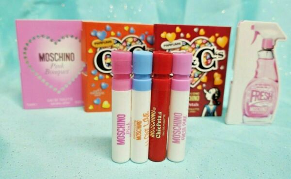 Moschino FRESH COUTURE PINK BOUQUET Camp;C#x27;S LOVE amp; CHIC PETALS 4 x .03 oz SAMPLE $12.34