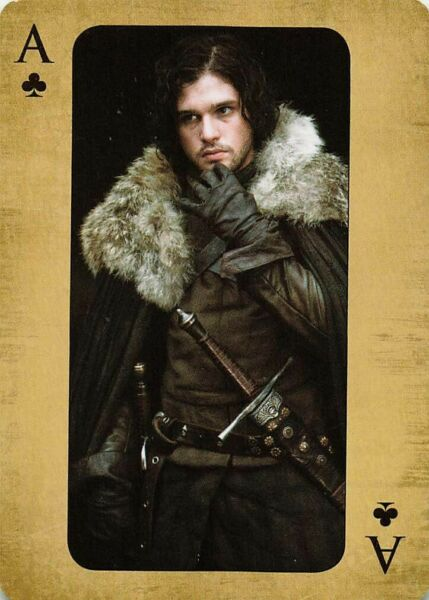 Game of Thrones John Snow Single Swap Playing Card Ace of Clubs