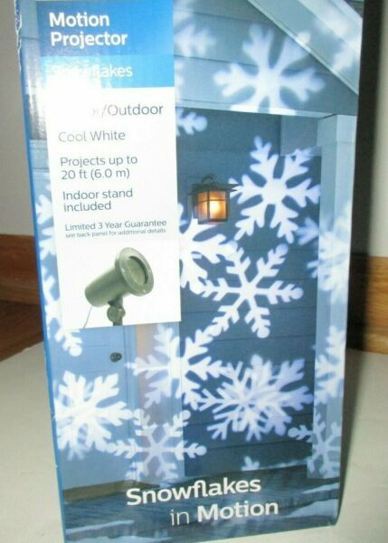 Phillips Snowflake Motion Projector Outdoor Stake and Indoor Stand Included $19.99