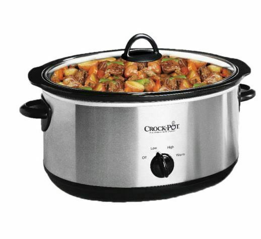 Crock Pot 7 Qt. Stainless Steel Manual Slow Cooker 	SCV700 SS New