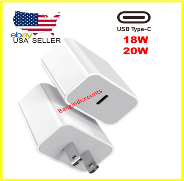 For iPhone 12 Pro Max Mini 18W 20W USB Type C Fast Wall Charger PD Power Adapter