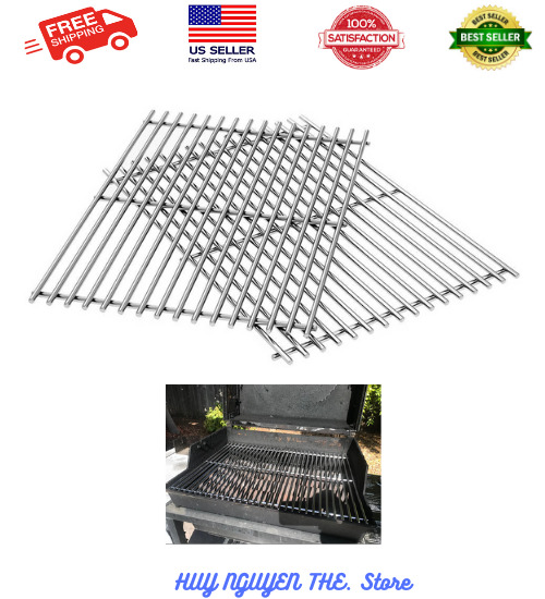 7639 304 Stainless Steel Cooking Grates 17.3 x 11.8 x 0.5 for Weber Spirit...