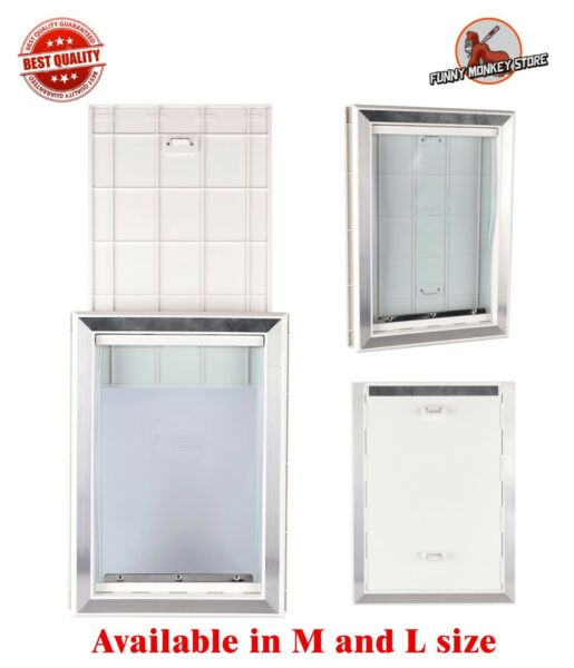 Extreme Weather Pet Door Dog Doors Exterior Cat Entry Large Dogs Heavy Duty M L $87.93