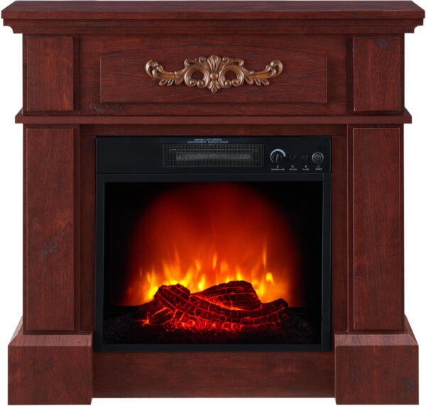 Electric Fireplace Heater Mantel Freestanding Wood TV STAND Entertainment Media