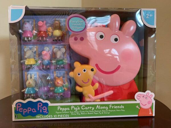 Peppa Pig#x27;s Carry Along Friends Figure Set Brand New Free Shipping