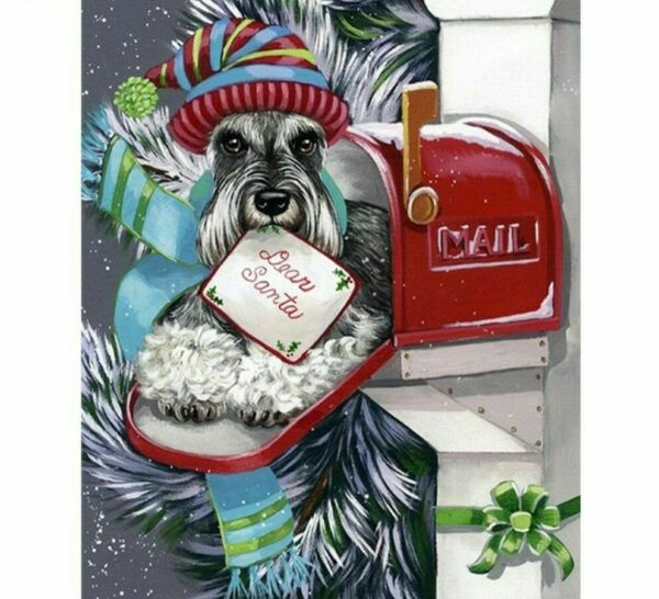 Diamond Painting DIY Dog In The Mailbox Cute Design Embroidery House Decorations $12.59