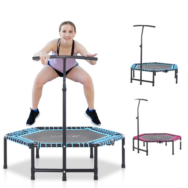 48quot; Foldable Adjustable Trampoline Bungee Exercise Cardio Fitness Jumper Trainer $79.99