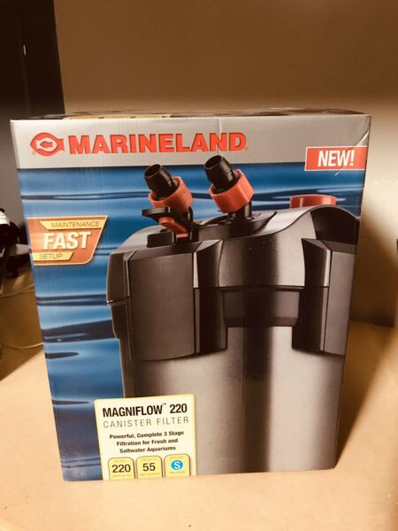 Marineland Magniflow Canister 220 for Aquarium Up to 55 Gal NEW $99.99