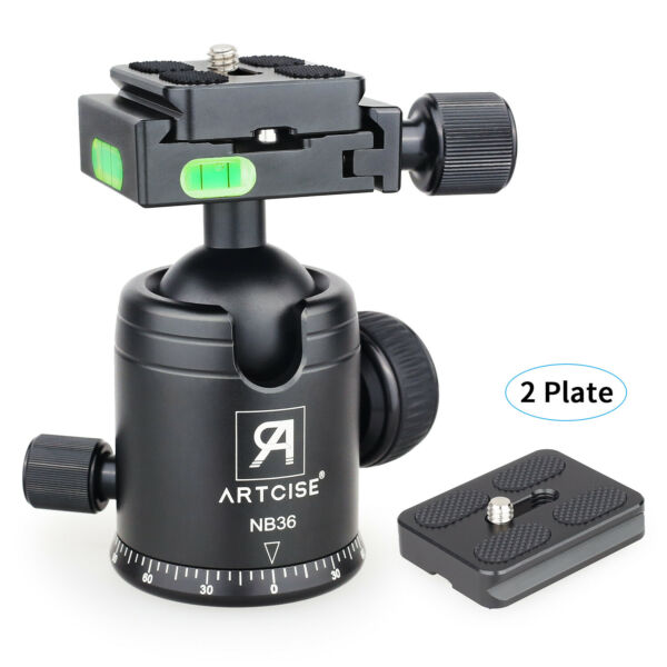 NB36 Ball Head Tripod Head Panoramic CNC for DSLR Camera amp; 2 Quick Release Plate
