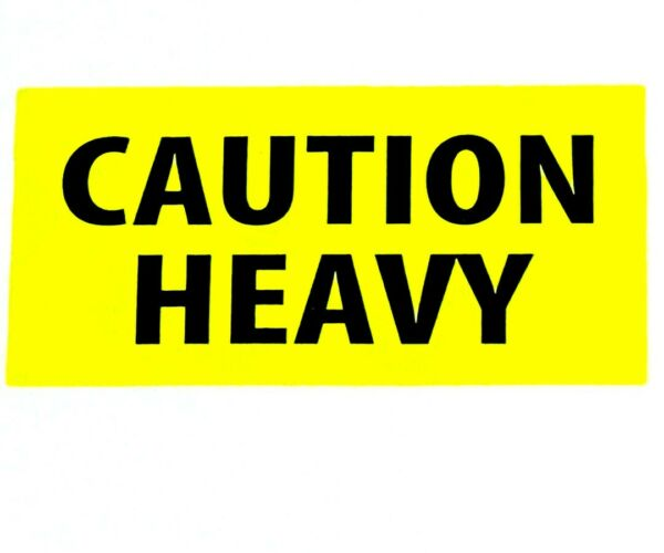 Caution Heavy Stickers 2x4quot; Package Parcel Packaging Shipping Mailing Labels $4.89