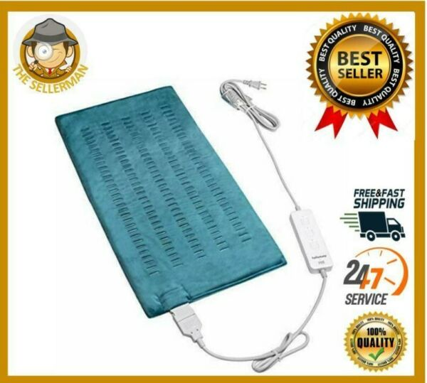 Electric Heating Pad For Back Pain Relief Ultra Soft Moist Dry Heat King Size $25.88
