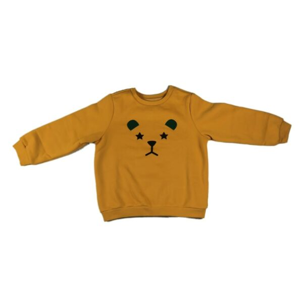 Sweater Clothes With Lion For Boy Kid Orange Yellow Sweatshirt Casual School $20.99
