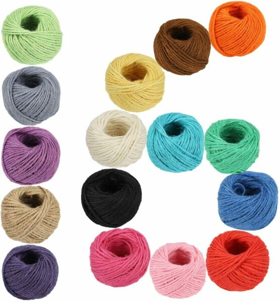 Jute Twine Rope String Cord 50M 3Ply Burlap Natural Fiber Craft DIY Gift US.