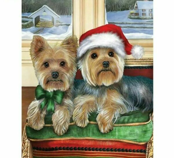 Diamond Painting DIY Dog Puppies Embroidery Portrait Designs House Wall Displays $12.59