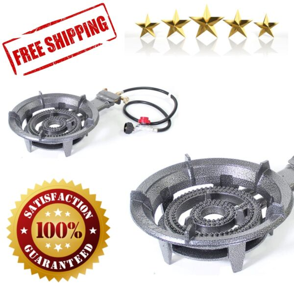 Propane Burner Gas Stove Portable Large High Pressure Cooking Camping Outdoor