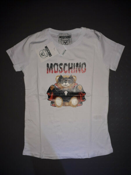 Moschino Women T shirt White Short Sleeve $33.00
