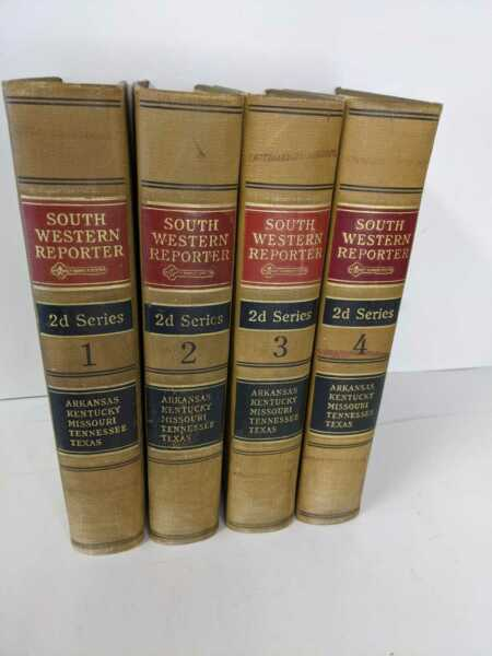 Southern Western Reporter Antique Law or Prop Books 1928 Lot of 4
