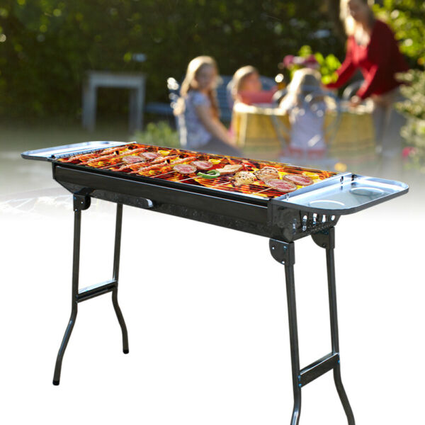 Foldable Barbeque Grill Portable Folding BBQ Kabab Charcoal Grill OutdoorCamping