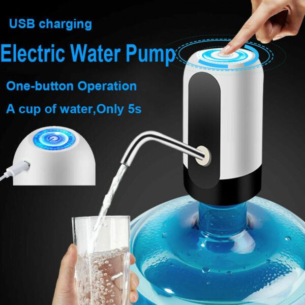 New Automatic Universal Electric Water Dispenser Pump 5 Gallon USB Bottle Switch $8.33