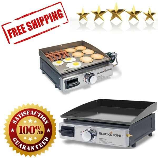 Table Top Grill 17 Inch Portable Gas Griddle Propane Outdoor Cooking Camping