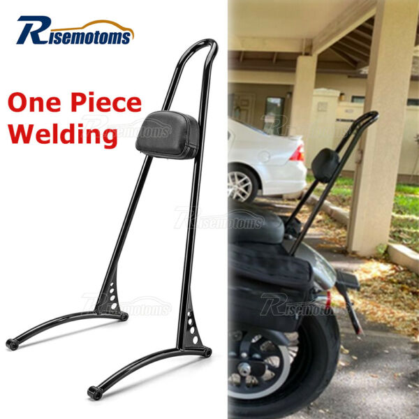 Rear 20quot; Tall Passenger Cushion Pad Sissy Bar Backrest For Harley Dyna FXD 06 17 $124.95