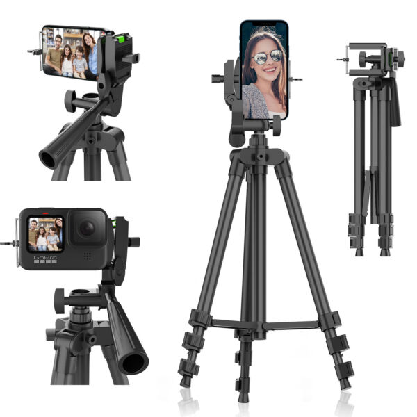 Professional Camera Travel Tripod Stand Phone Holder Mount For iPhone Samsung LG