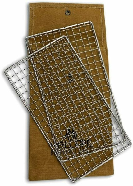 HellFire Bushcraft Grill Stainless Steel Campfire Cooking Grate 2 Pack