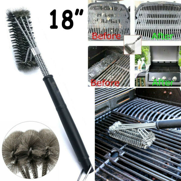 BBQ Grill Brush Barbecue Grill Grate Durable Cleaner Stainless Steel Wire Brush