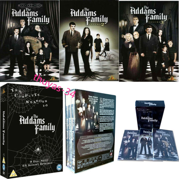The Addams Family Complete Series DVD Box Set 2007 9 Disc Set US Seller