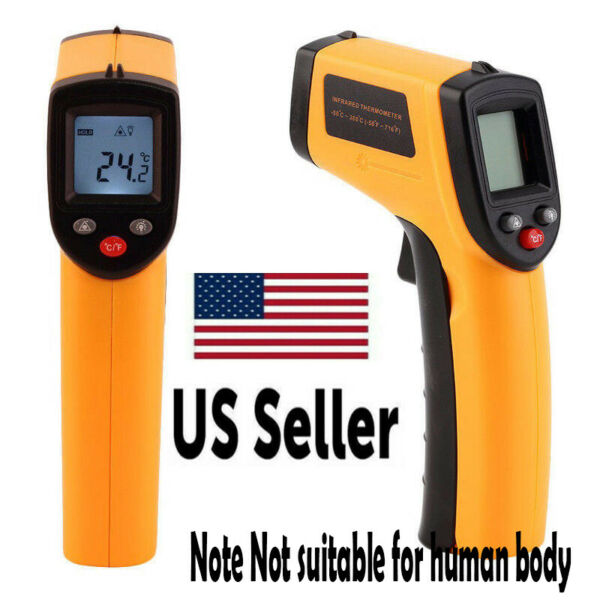 Digital Non Contact LCD IR Laser Infrared Temperature Thermometer Gun Pyrometer*