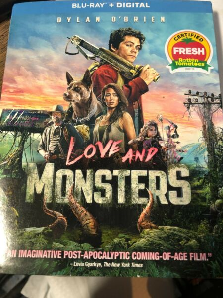 NEW LOVE AND MONSTERS BLU RAY DISC DIGITAL w slipcover $15.99