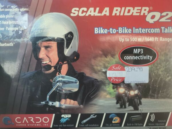 Cardo Scala Rider Q2 Motorcycle bike to bike intercom $120.00