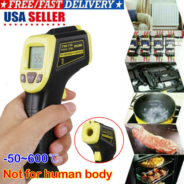 Digital Thermometer Infrared Temperature Gun Non Contact Laser 58℉ To 1112℉ New
