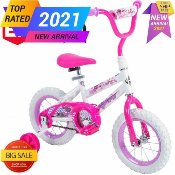 Huffy 12 inch Sea Star Girls EZ Build Bike for Kids Outdoor Indoor Bicycle Pink $48.00