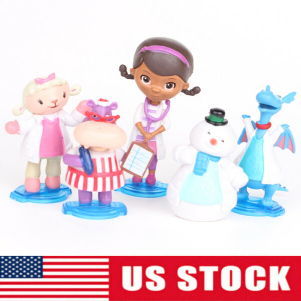 Doc Mcstuffins Check Up Time Movie 5 pcs Movie Action Figure Doll Gift Kids Toy