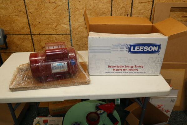 Leeson Electric Motor 117806.00 1.5 HP 1725 Rpm 1 PH 115 208 230 V 56H Cont Duty $289.99