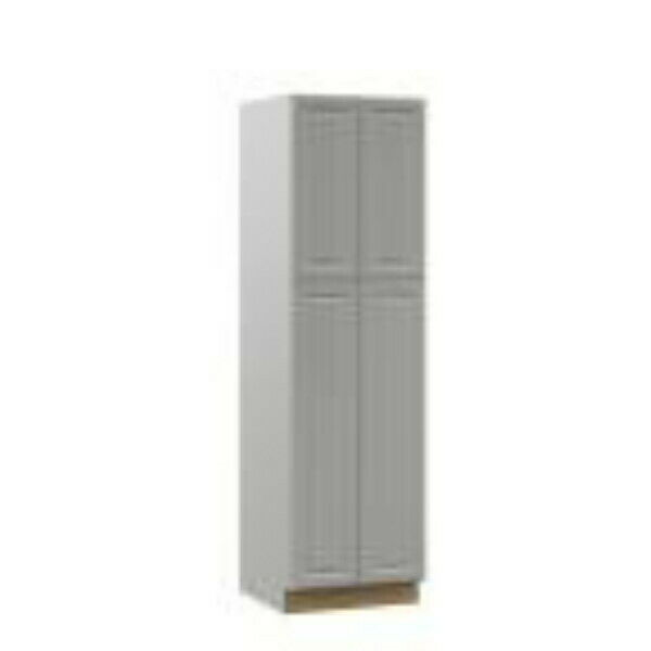 HAMPTON BAY T2484 LIGHT GRAY PANTRY KITCHEN CABINET 24quot; x 84quot; x 23 3 4quot;