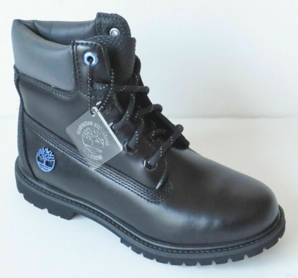 Timberland WOMEN#x27;S LIMITED EDITION 6quot; Inch Premium BLACK ICE Leather Boots A1Q84 $84.99