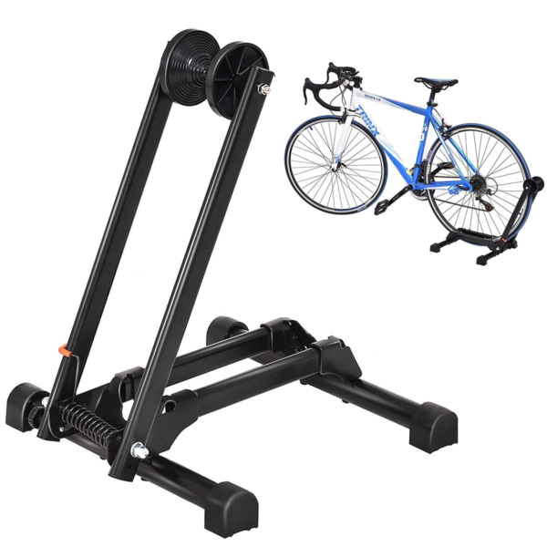 Bicycle Bike Floor Parking Storage Stand Display Rack Folding Hold Metal 16quot; 29quot; $35.99