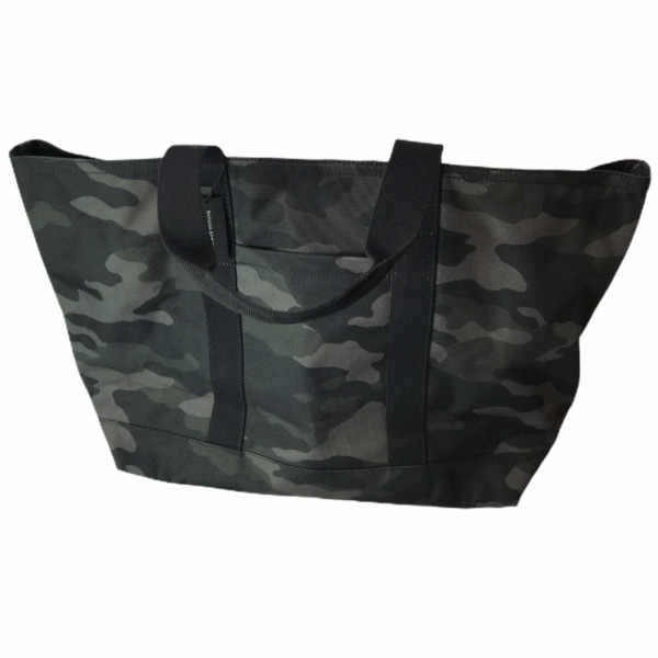 Banana Republic Camo Camouflage Large Size Tote Bag Canvas Night Black Green NEW