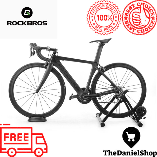 5 Level Resistance Indoor Magnetic Bicycle Bike Trainer For Exercise Stand Black $21.99