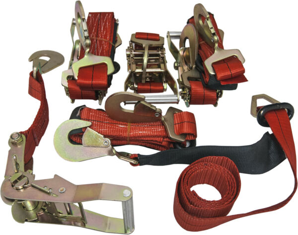 4 Axle Straps Car Carrier Tie Down Straps with Ratchets Tow Straps Red $64.99