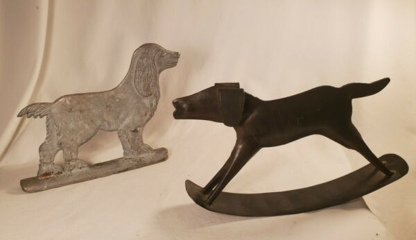 Metal Dogs Estate Sale Find One Rocks One Looks Old Found In Tennessee. $9.00