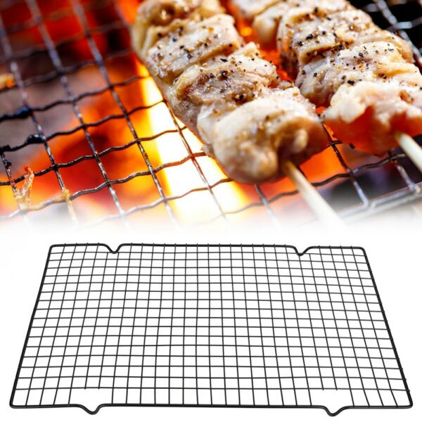 Metal BBQ Grill Grate Grid Wire Mesh Rack Grilled Net for Outdoor Camping Picnic