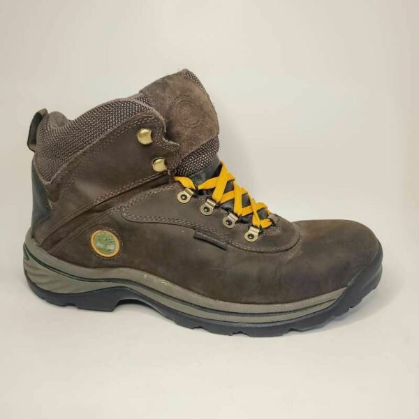Timberland Ledge Mens Hiking Trail Boots Brown Leather Lace Up Waterproof 10 M $57.00