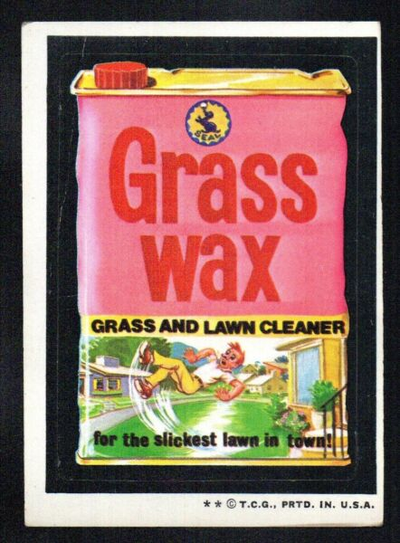 GRASS WAX LAWN CLEANER 1973 TOPPS series 4 WACKY PACKAGES STICKER GOOD VERY GOOD $2.25