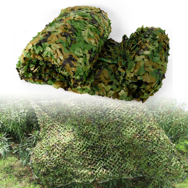 8x8M 26*26FT Woodland Leaves Cover Camouflage Net Hunting Camping Camo Netting